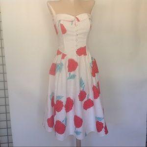 Vintage cotton strapless sun dress